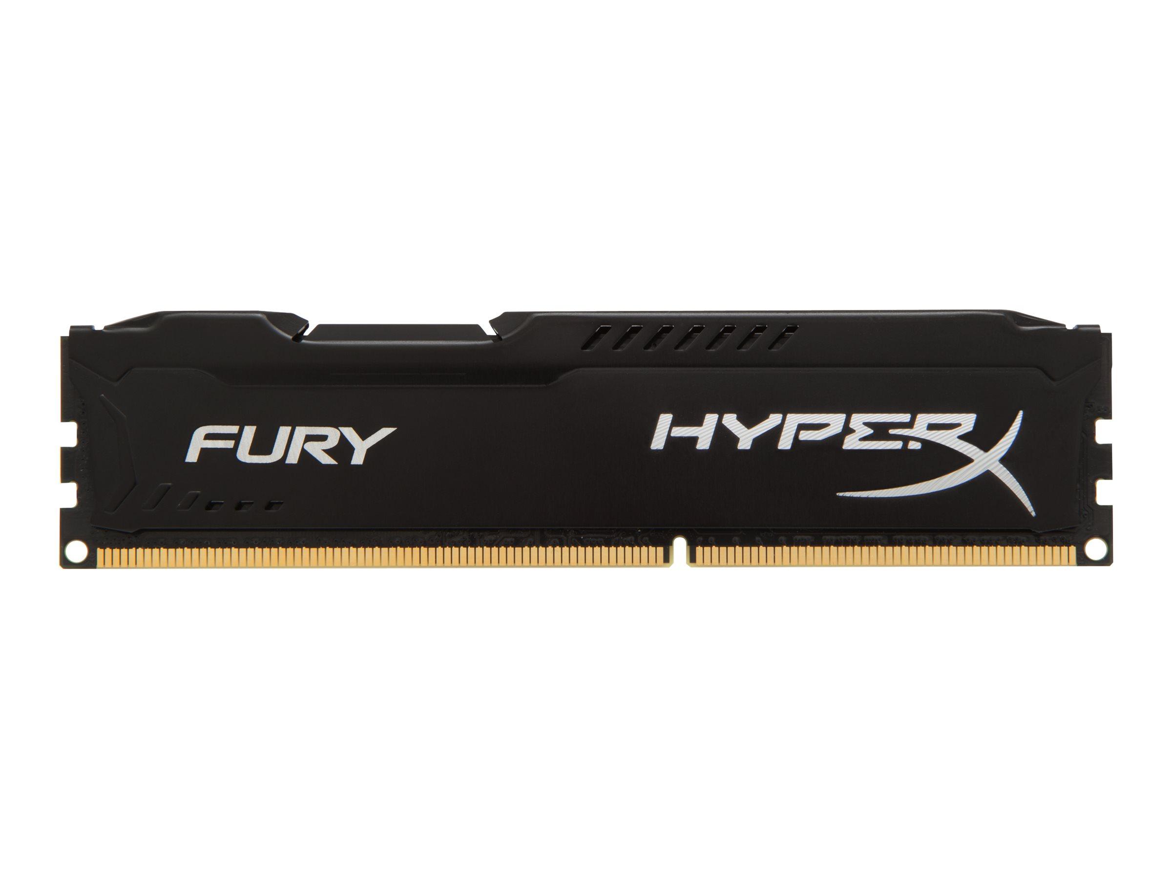 HyperX FURY - DDR3 - 8 GB: 2 x 4 GB - DIMM 240-PIN - 1600 MHz / PC3-12800 - CL10