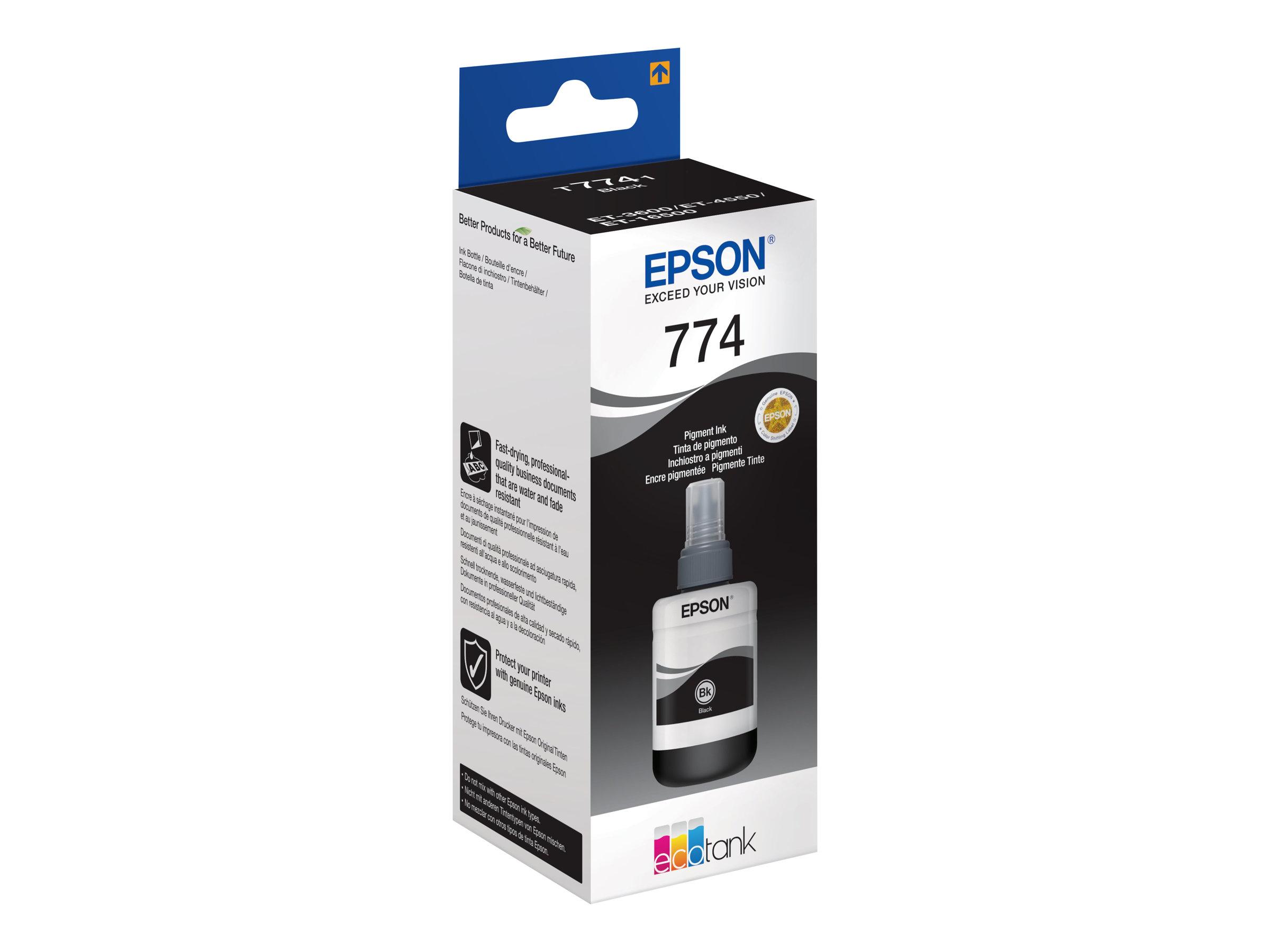 Epson T7741 - 140 ml - Schwarz - Nachfülltinte - für EcoTank ET-16500, ET-3600, ET-4550, ET-4550 Stickers
