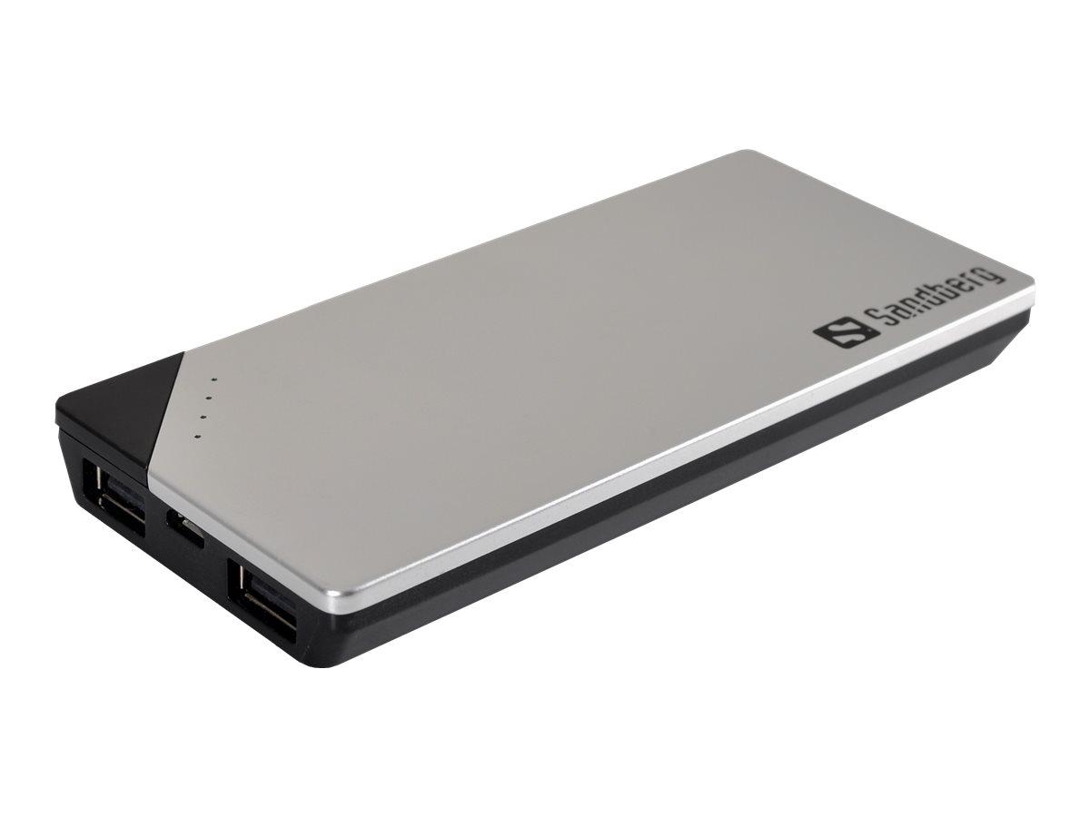 Sandberg PowerBank 6000 - Powerbank - 6000 mAh - 3100 mA - 2 Ausgabeanschlussstellen (USB)
