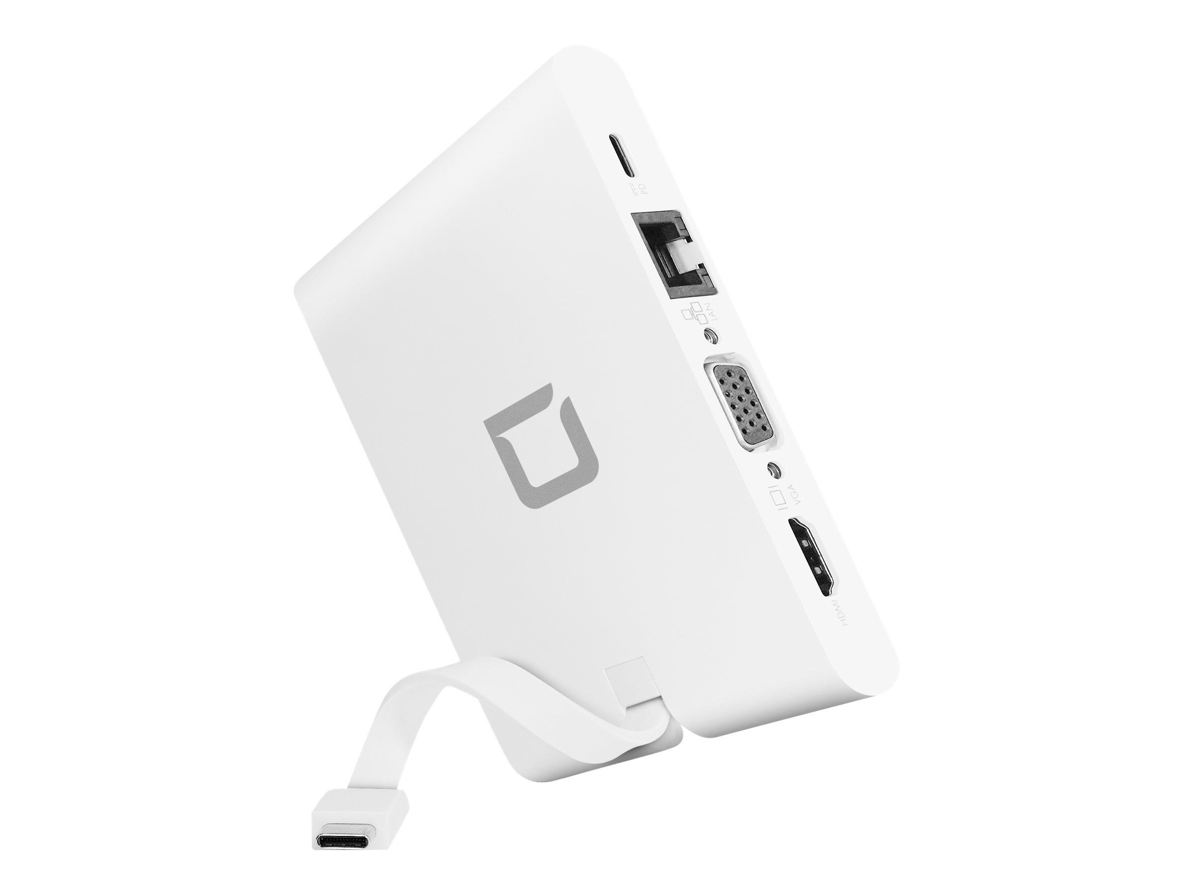 DICOTA USB-C Portable Docking 9-in-1 with HDMI - Dockingstation - USB-C - VGA, HDMI