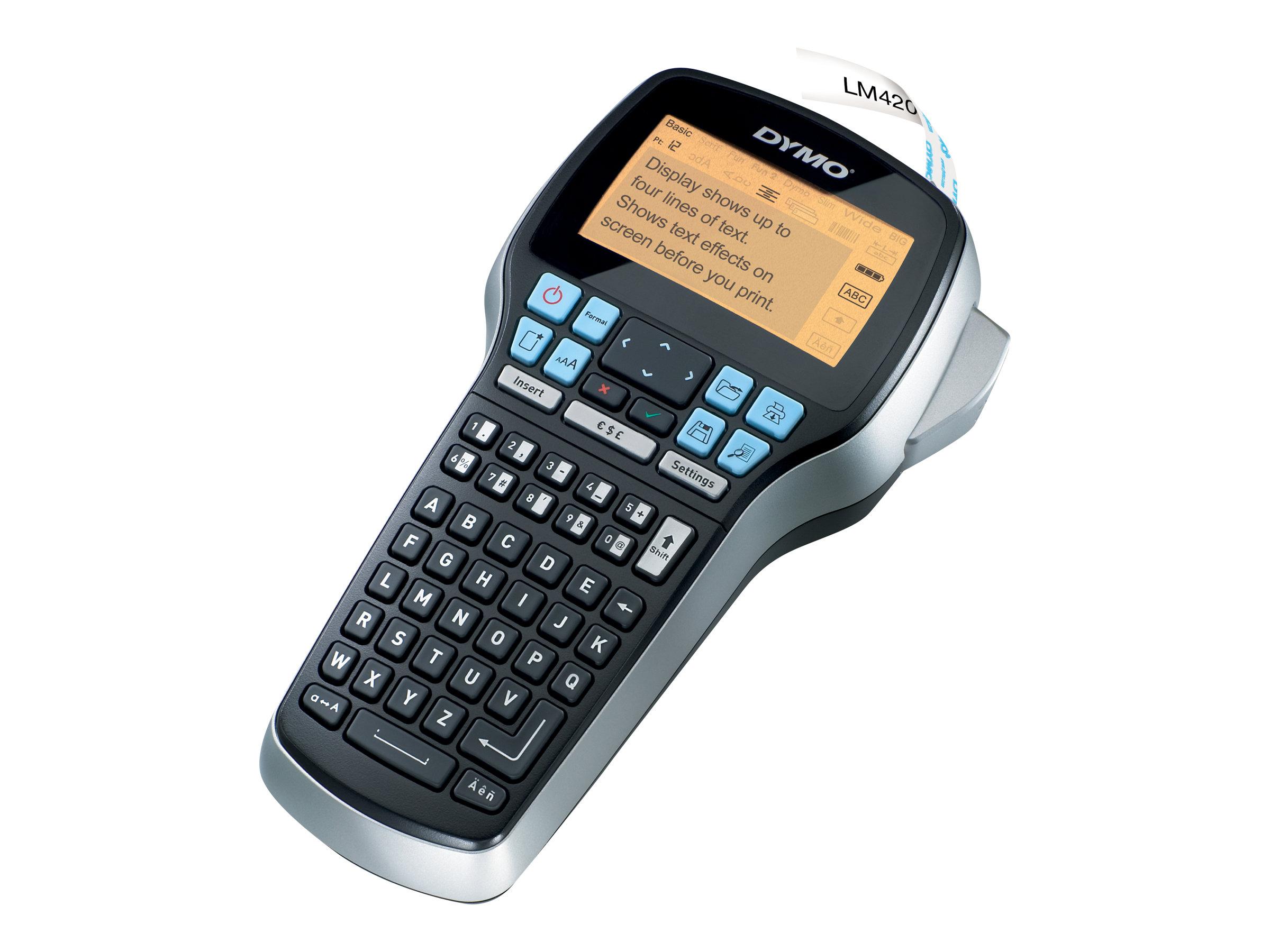 DYMO LabelMANAGER 420P - Beschriftungsgerät - Rolle (1,9 cm) - USB