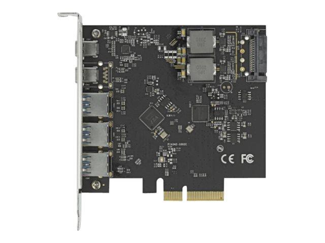Delock - USB-Adapter - PCIe 3.0 x4 - USB-C 3.2 Gen 2 x 2 + USB 3.2 Gen 2 x 3