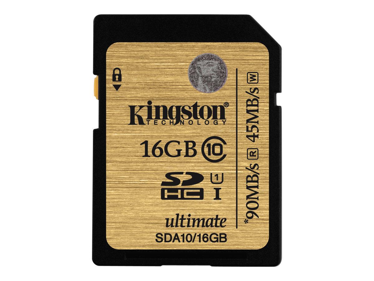 Kingston Ultimate - Flash-Speicherkarte - 16 GB - UHS Class 1 / Class10 - 300x - SDHC