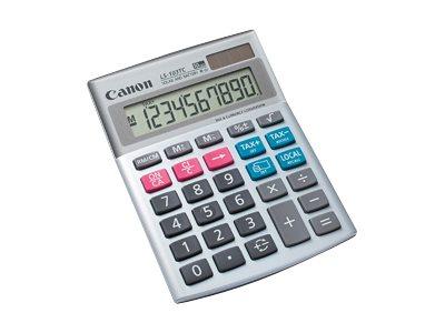 Canon LS-103TC - Desktop-Taschenrechner - 10 Stellen - Solarpanel, Batterie - Grau