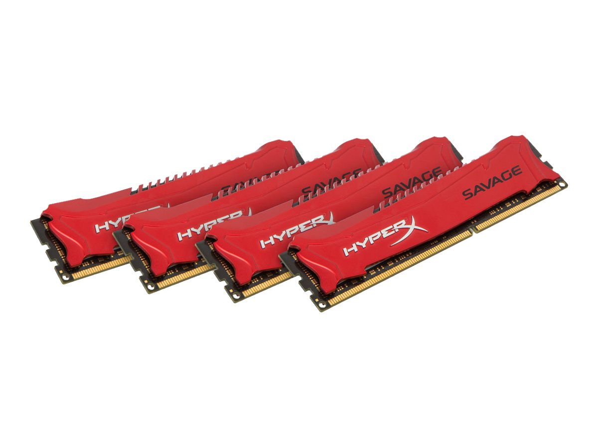 HyperX Savage - DDR3 - 32 GB: 4 x 8 GB - DIMM 240-PIN - 1600 MHz / PC3-12800 - CL9