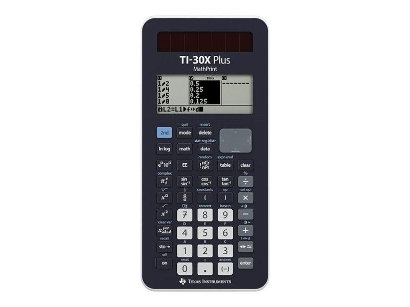 Texas Instruments TI-30X Plus MathPrint - Wissenschaftlicher Taschenrechner - Solarpanel, Batterie