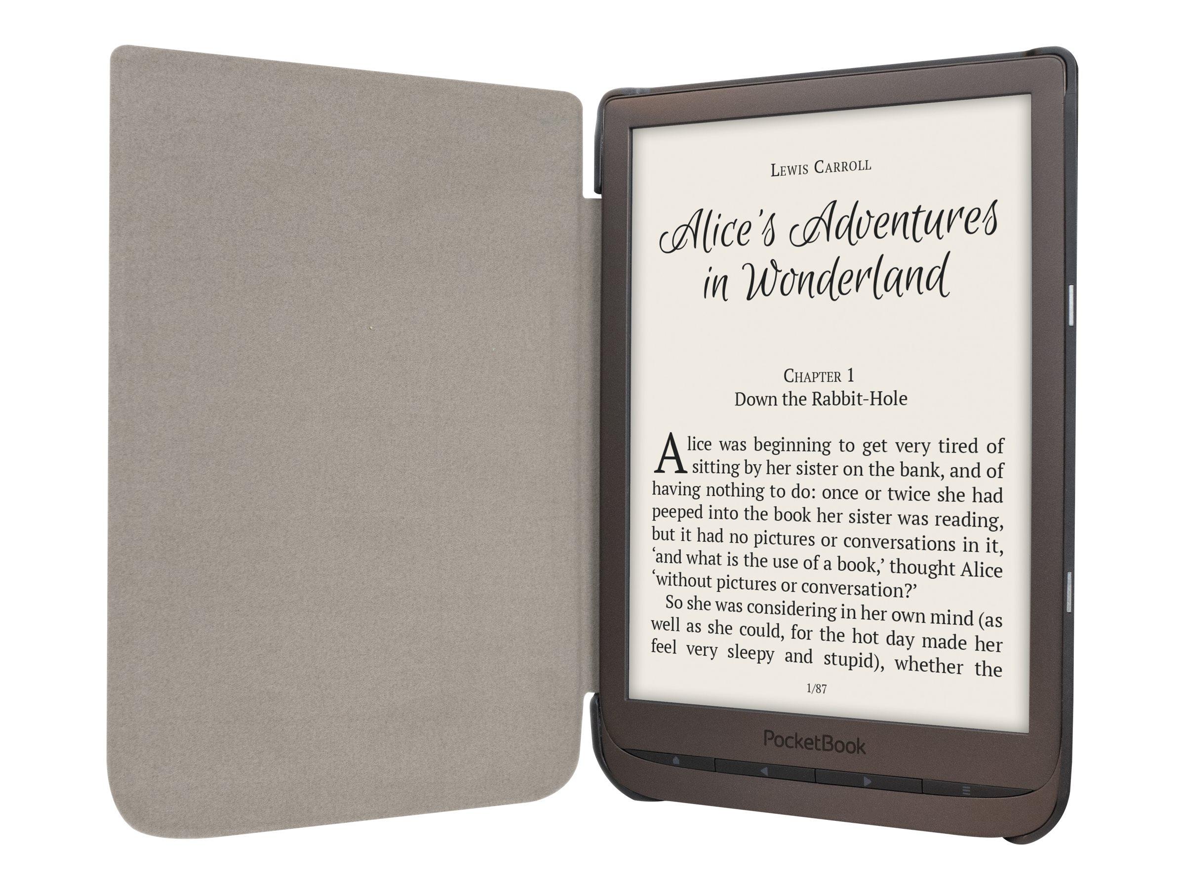 PocketBook Shell series - Flip-Hülle für eBook-Reader - Kunststoff, Polyurethan-Kunstleder - Schwarz
