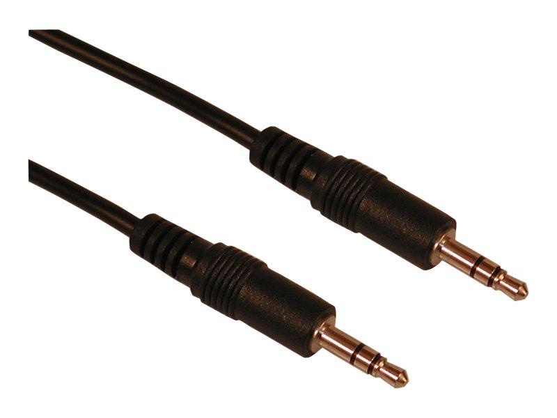 Sandberg - Audiokabel - Stereo Mini-Klinkenstecker (M) bis Stereo Mini-Klinkenstecker (M) - 2 m - Schwarz