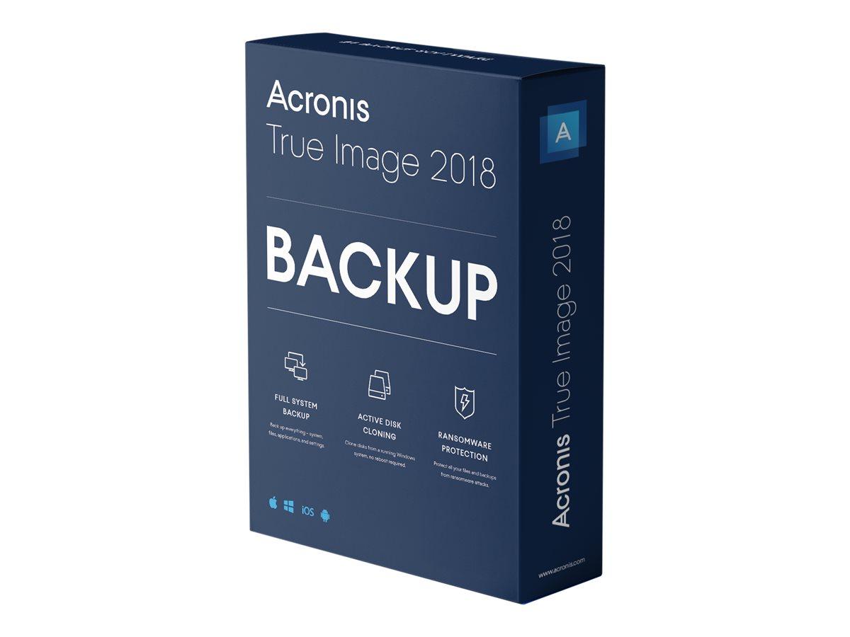 Acronis True Image Advanced - Abonnement-Lizenz (1 Jahr) - 5 Computer, 250 GB Cloud-Speicherplatz - Win, Mac, Android, iOS