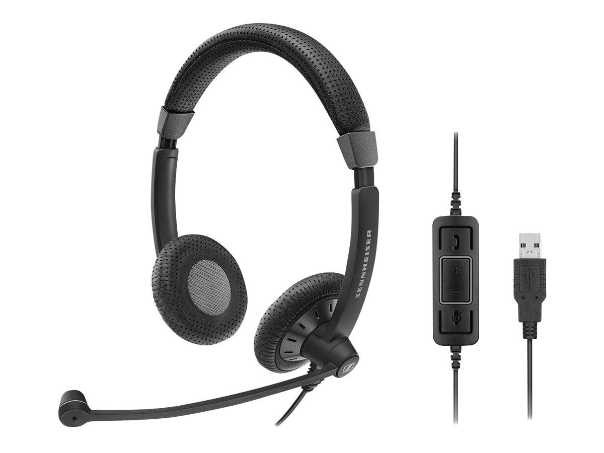Sennheiser SC 70 USB MS - Culture Plus - Headset - On-Ear - kabelgebunden - aktive Rauschunterdrückung