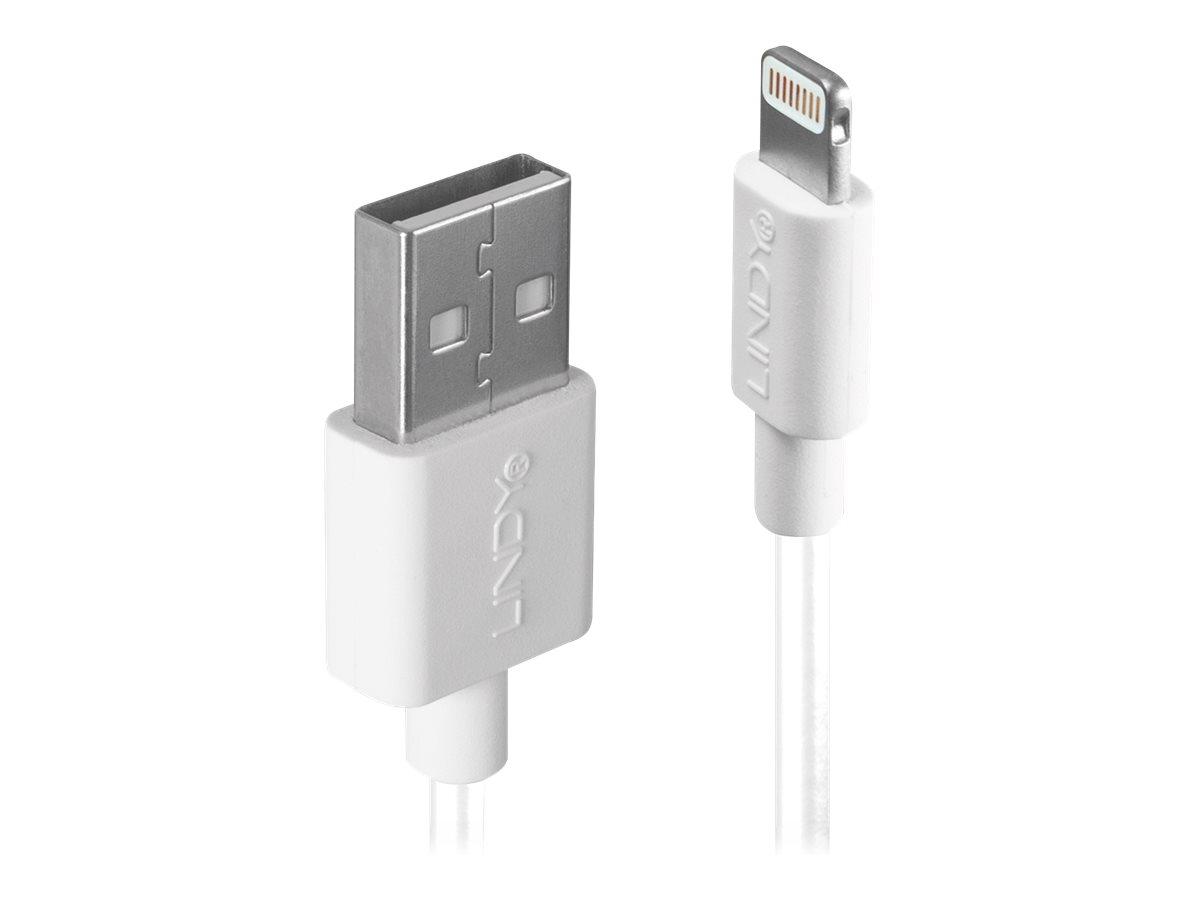 Lindy - Lightning-Kabel - Lightning (M) bis USB (M) - 1 m - weiss - halogenfrei