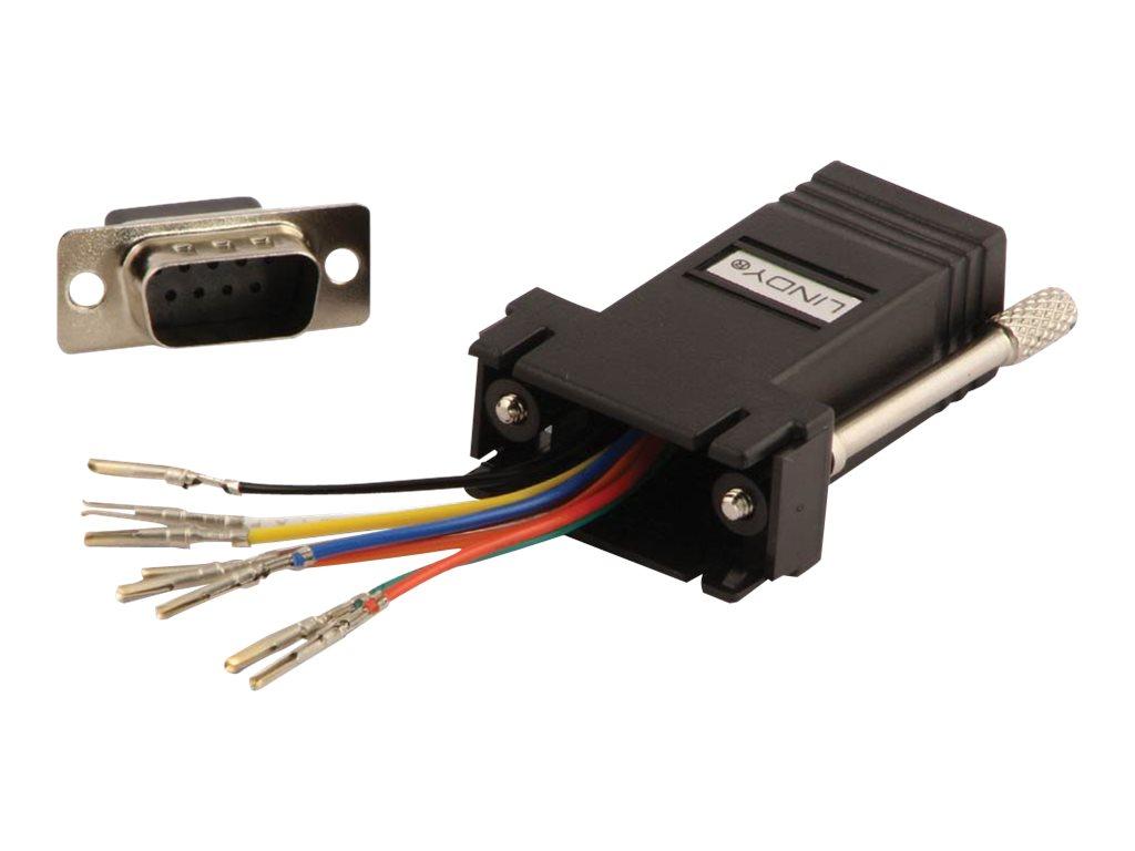 Lindy - Serieller Adapter - RJ-45 (W) bis DB-9 (M) - ungeschirmt