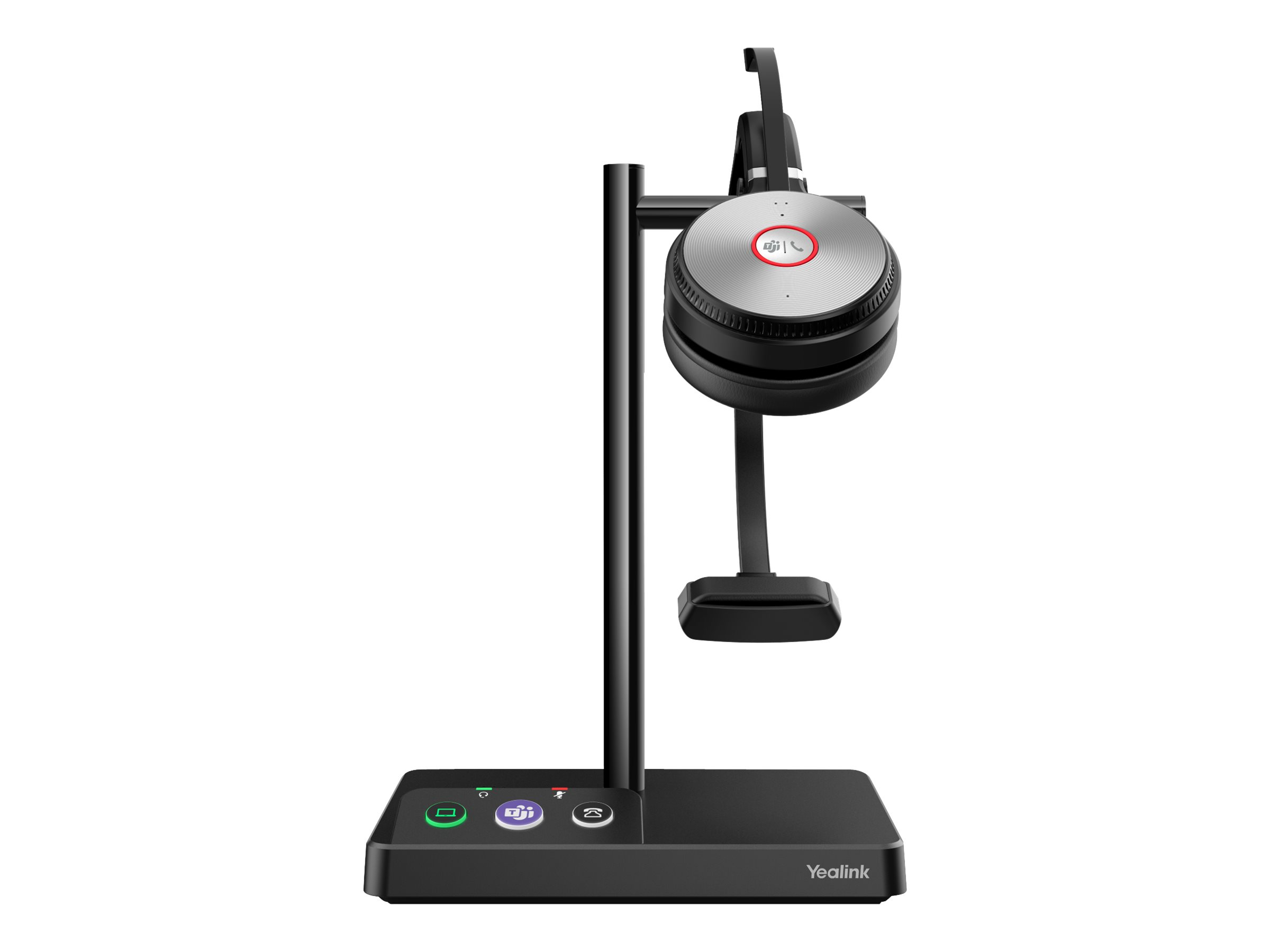 Yealink WH62 Mono - Für Microsoft Teams - Headset - On-Ear - DECT - kabellos
