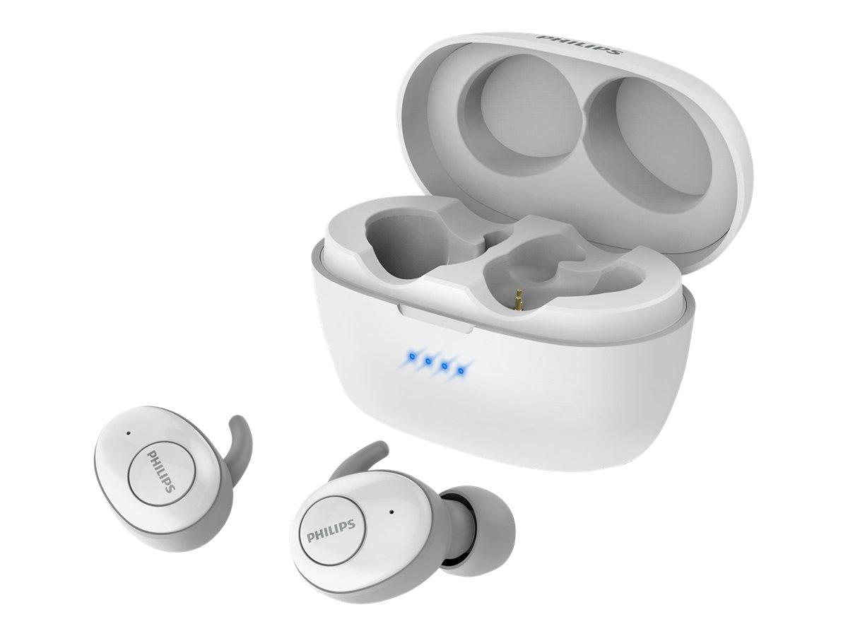 Philips UpBeat SHB2505WT - True Wireless-Kopfhörer mit Mikrofon - im Ohr - Bluetooth - Geräuschisolierung - weiss