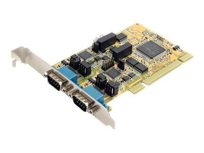 StarTech.com 2 Port RS232/422/485 Seriell PCI Schnittstellenkarte mit ESD-Schutz - Serieller Adapter - PCI - RS-232 x 2 - Gelb