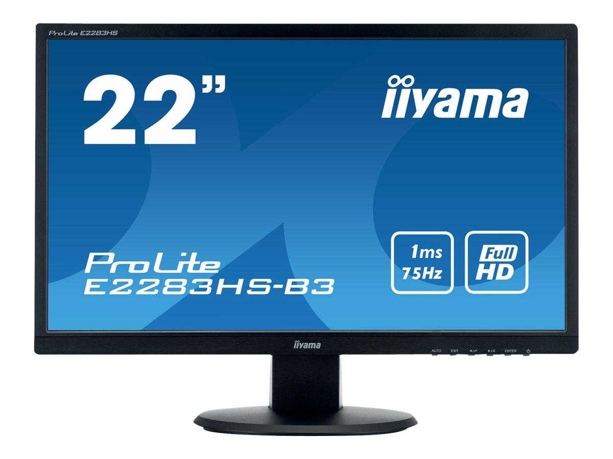 iiyama ProLite E2283HS-B3 - LED-Monitor - 55.9 cm (22