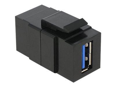 DeLOCK - Modularer Einschub (Kopplung) - USB 3.0 Type A - Schwarz