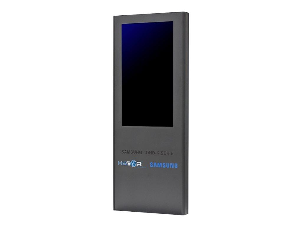 HAGOR ScreenOut OH46D-K - Befestigungskit (Gehäuse für den Aussenbereich) für LCD-Display - verriegelbar - Kunststoff, rostfreie