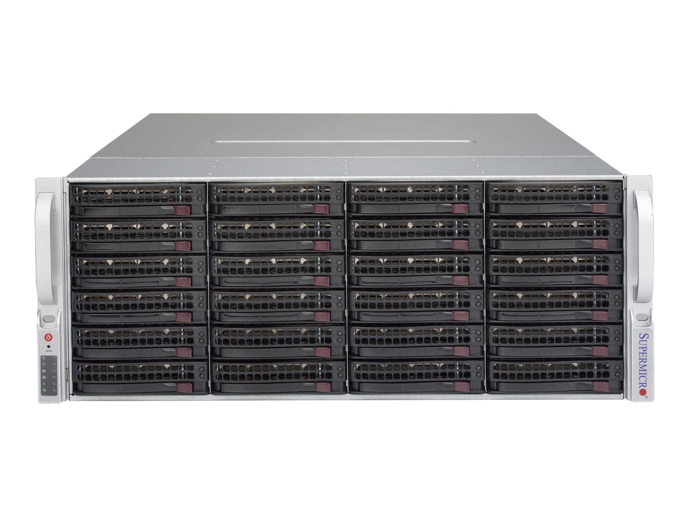 Supermicro SC847 BA-R1K28LPB - Rack - einbaufähig - 4U - verbessertes, erweitertes ATX - SATA/SAS
