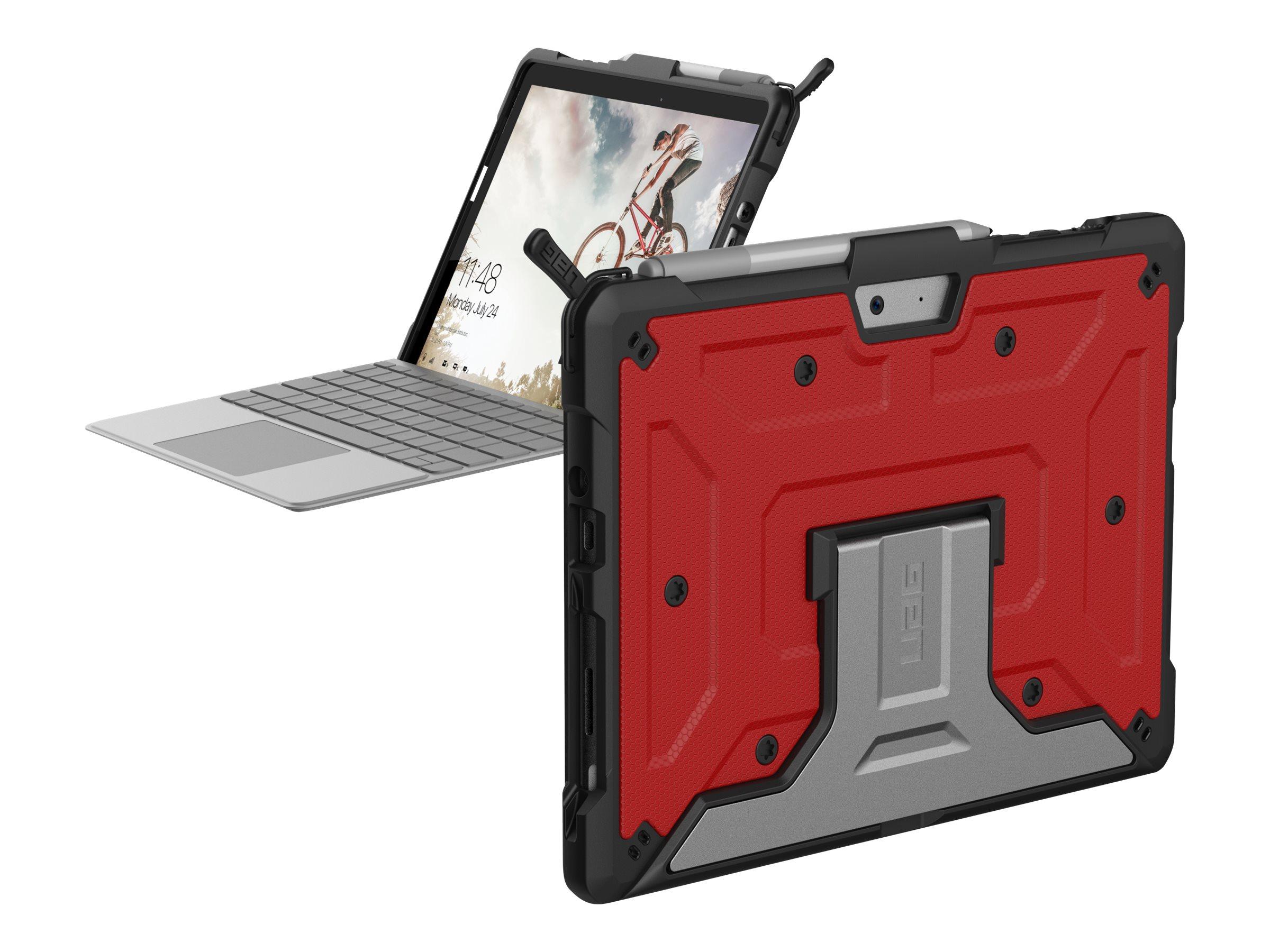 UAG Metropolis Series Rugged Case for Microsoft Surface Go - Magma - Hintere Abdeckung für Tablet - widerstandsfähig - Aluminium