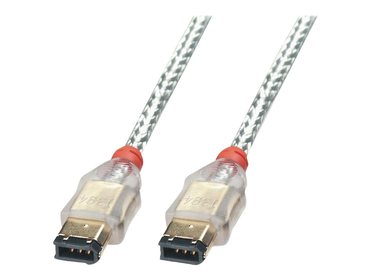 Lindy Premium - IEEE 1394-Kabel - FireWire, 6-polig (M) bis FireWire, 6-polig (M) - 1 m - geformt - durchsichtig