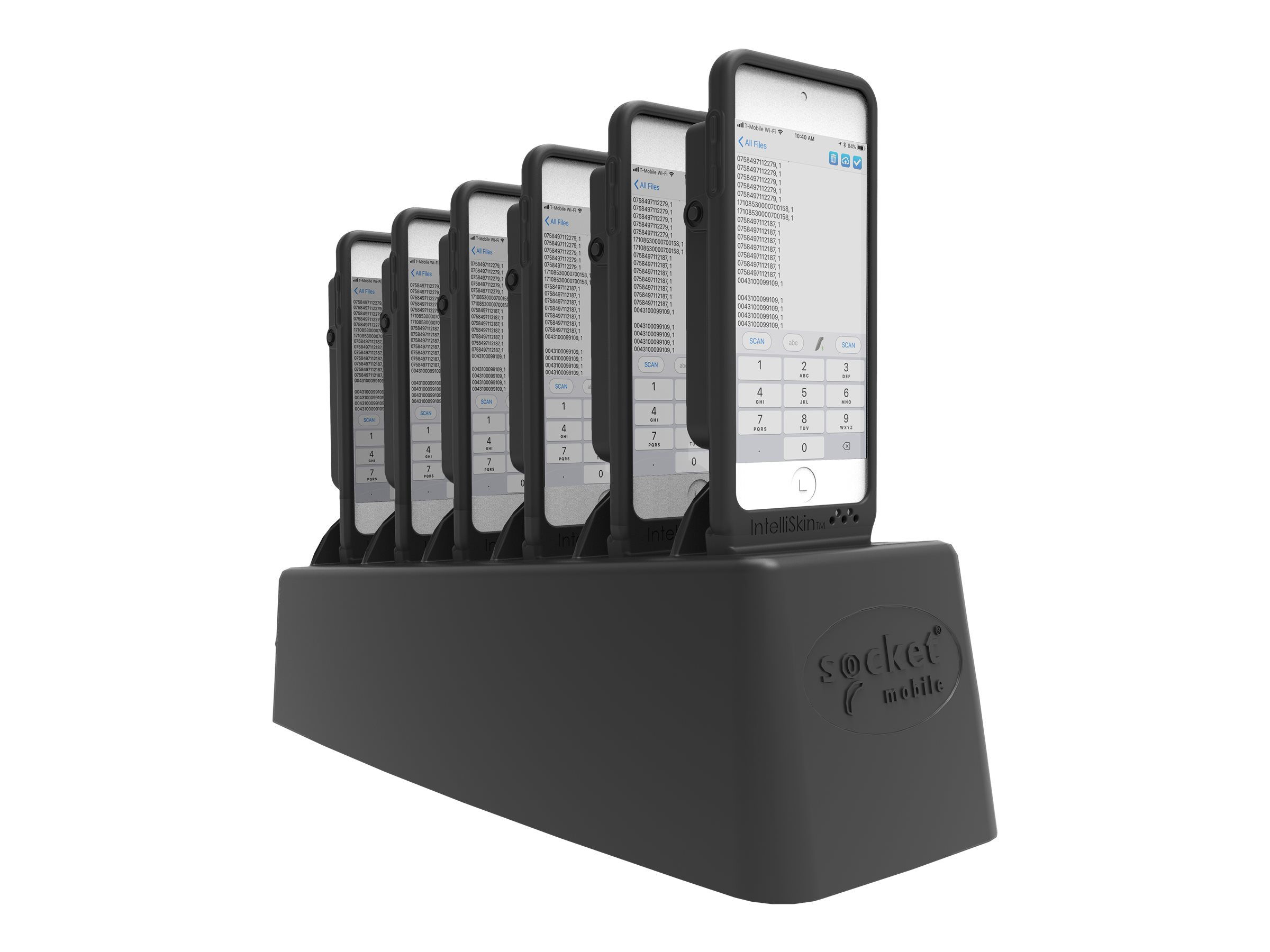 DuraSled DS840 - With 6 Bay Charger - Barcode-Scanner - Begleiter - Linear-Imager - decodiert