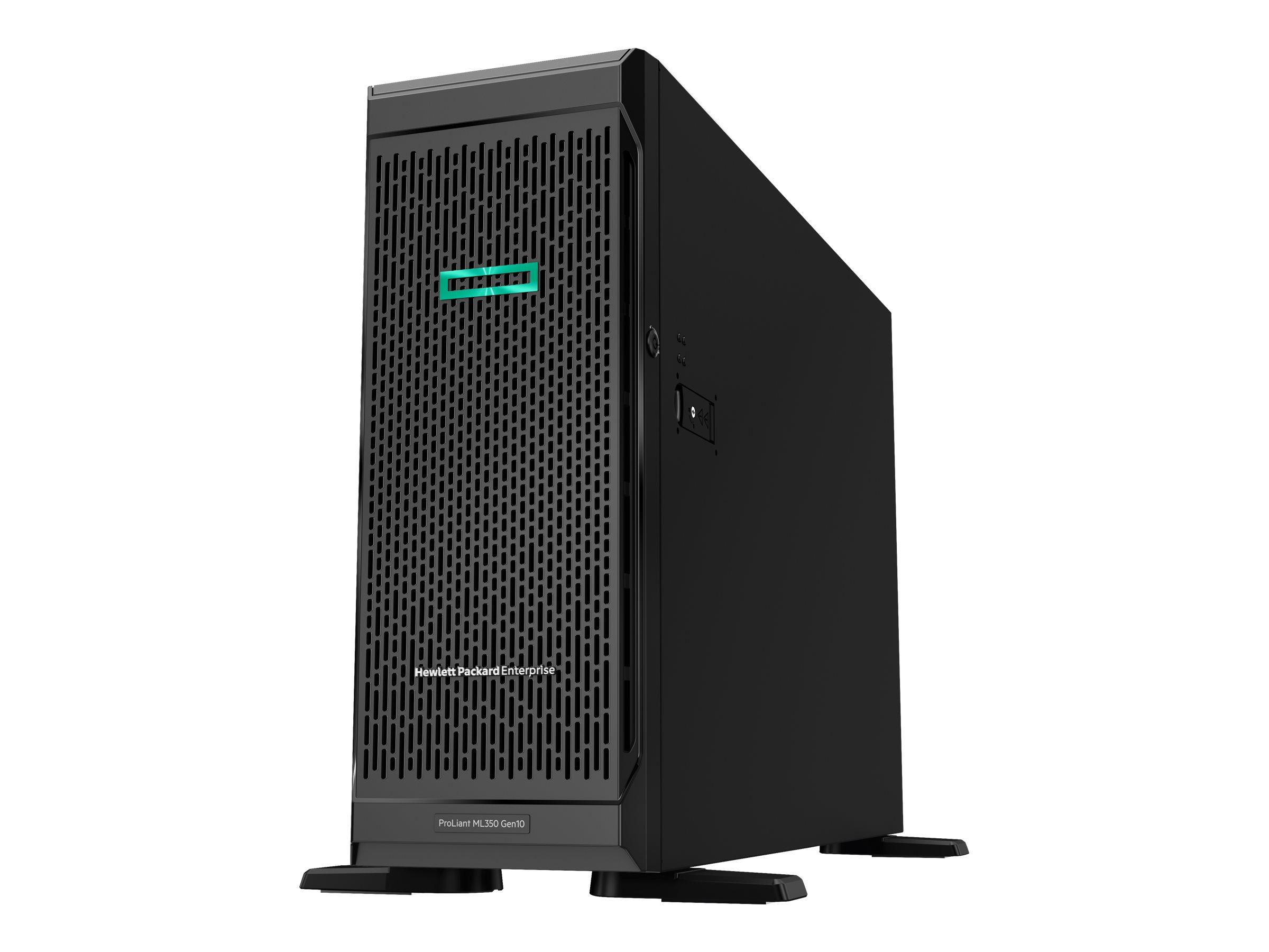 HPE ProLiant ML350 Gen10 Sub-Entry - Server - Tower - 4U - zweiweg - 1 x Xeon Bronze 3104 / 1.7 GHz