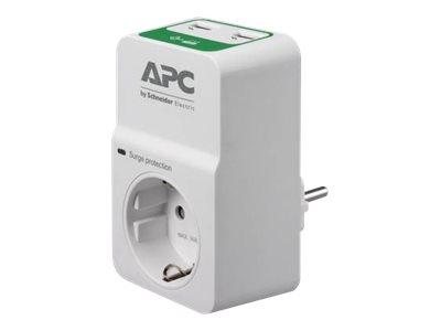APC Essential Surgearrest PM1WU2 - Überspannungsschutz - Wechselstrom 230 V - Ausgangsanschlüsse: 1 - Russland - weiss