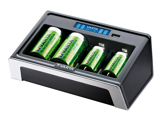 Varta LCD Universal Charger - 4 Std. Batterieladegerät - (für 4xAA/AAA/C/D, 1x9V) (USB)