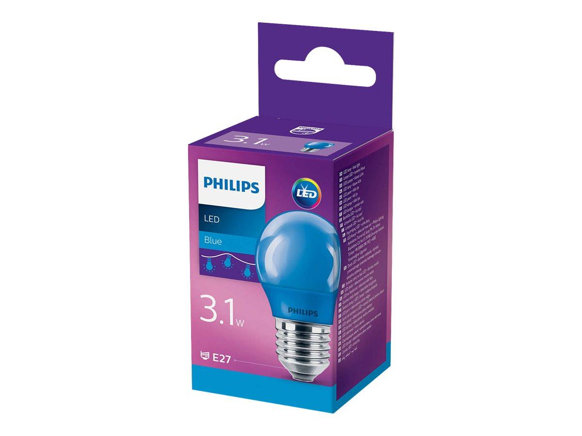 Philips LED - LED-Lampe - E27 - 3.1 W (Entsprechung 25 W) - Klasse E - blaues Licht
