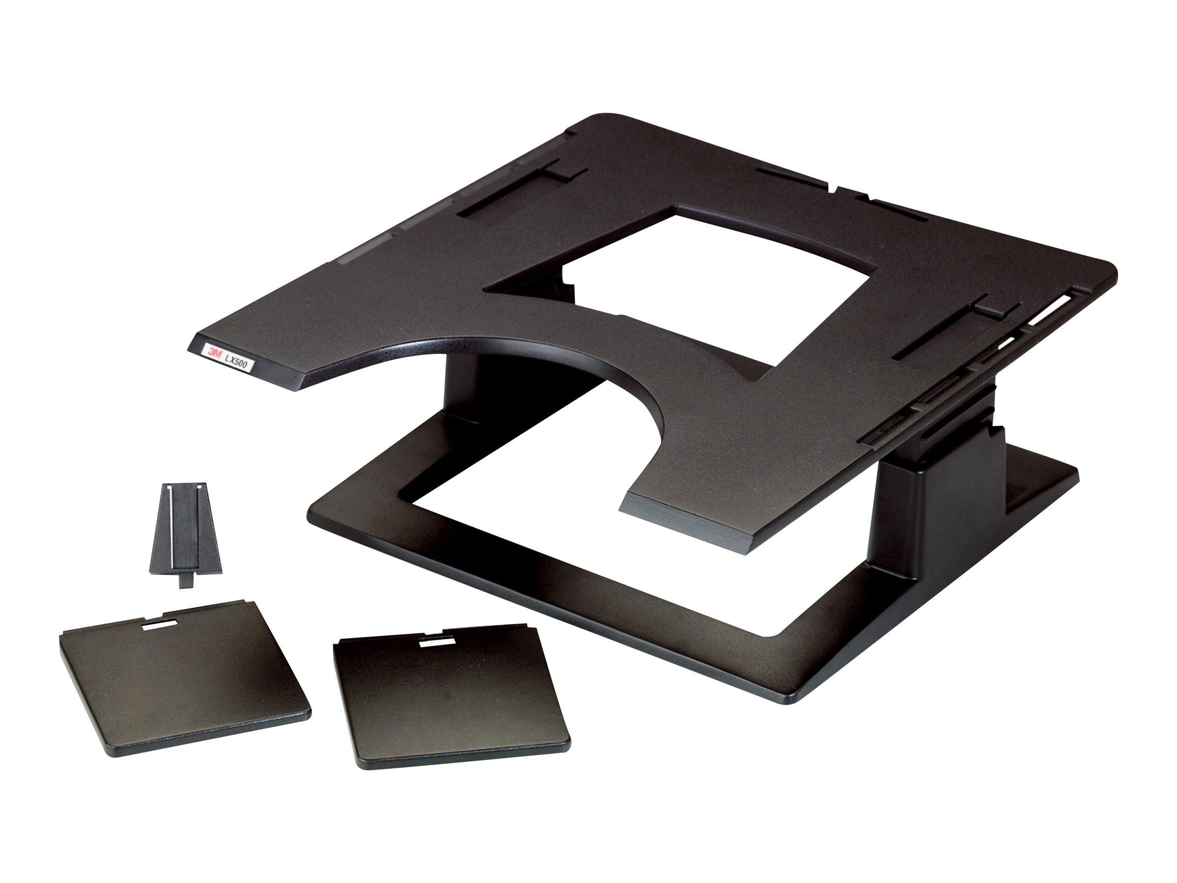 3M Adjustable Notebook Riser LX500 - Notebook-Plattform - Schwarz