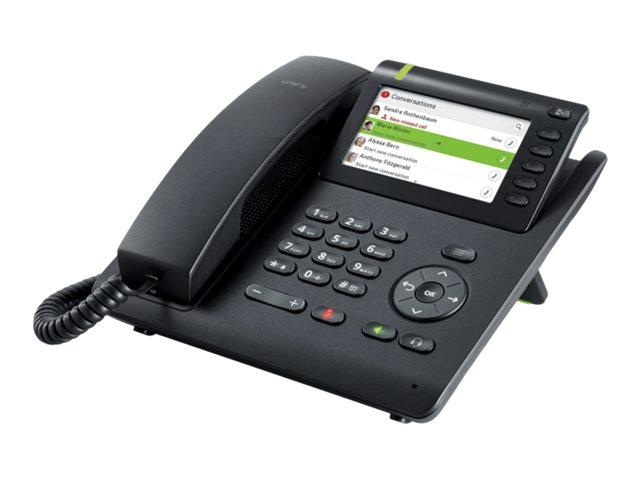 Unify OpenScape Desk Phone CP600 - VoIP-Telefon - mit Bluetooth-Schnittstelle - dreiweg Anruffunktion - SIP - Schwarz