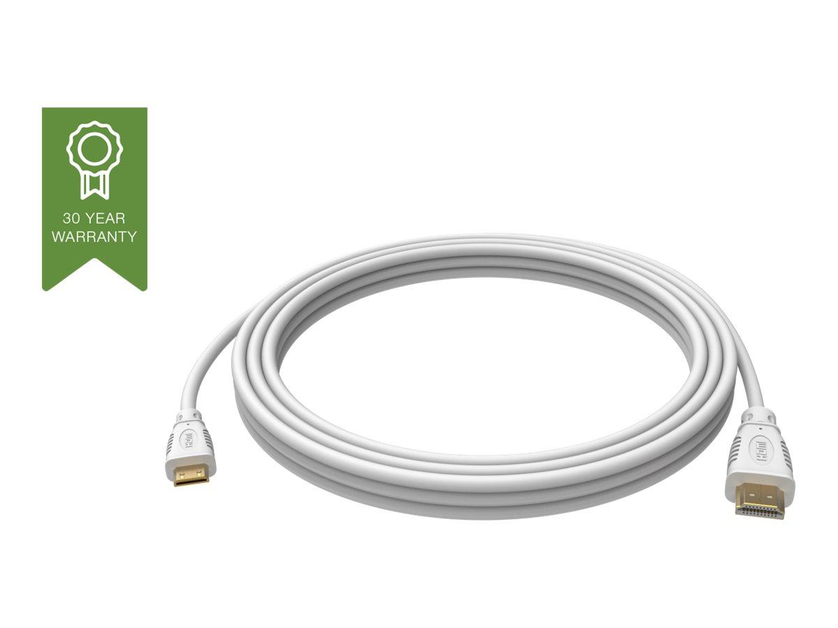 VISION Techconnect - HDMI mit Ethernetkabel - mini HDMI (M) bis HDMI (M) - 5 m - weiss