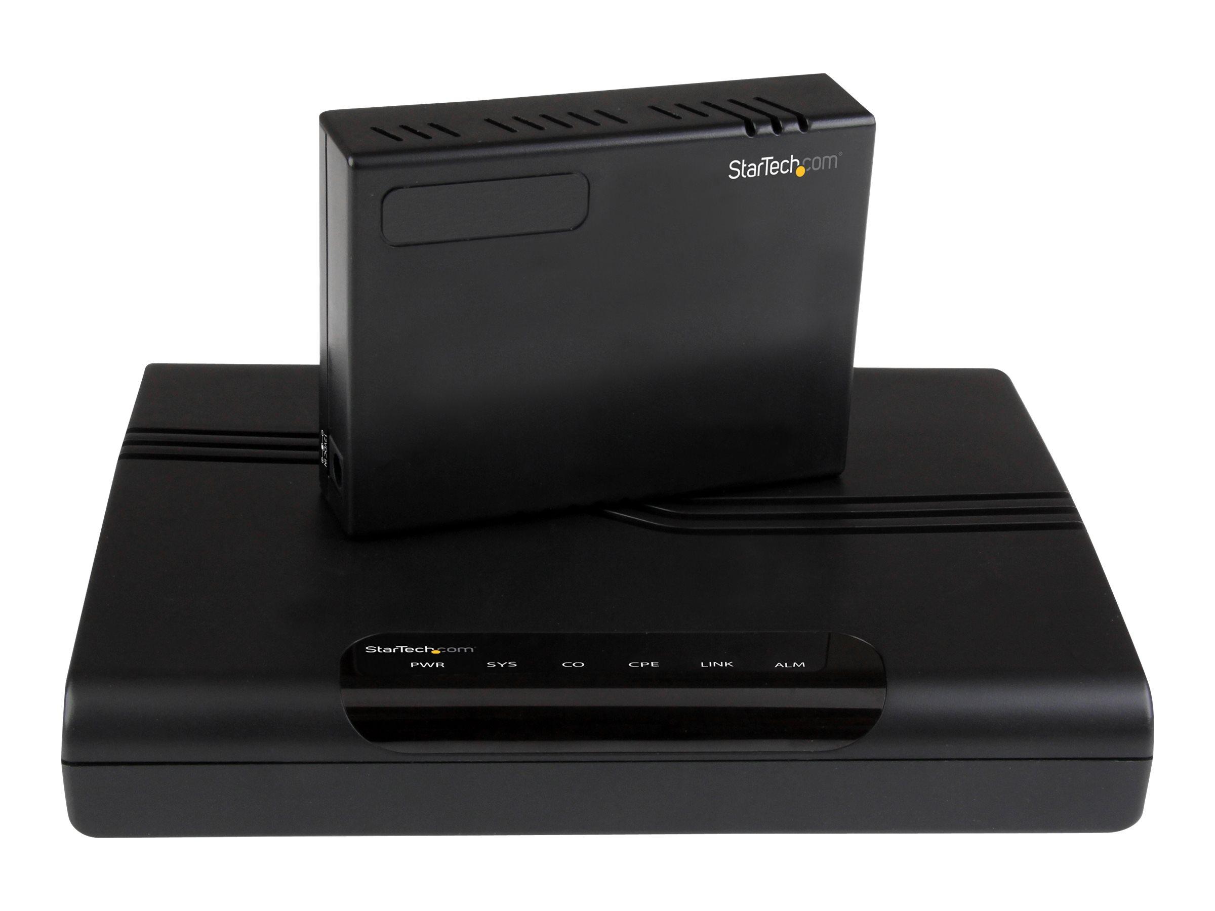 StarTech.com 1 Port zu 4 Port VDSL2 Ethernet Extender Kit - LAN Netzwerk Verlängerung 10/100Mbps - Kurzstreckenmodem - 100Mb LAN
