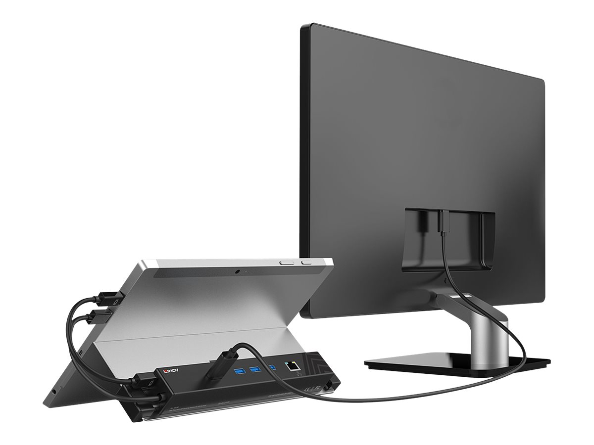 LINDY - Dockingstation - USB-C / Mini Displayport - HDMI, Mini DP - GigE - für Microsoft Surface Pro