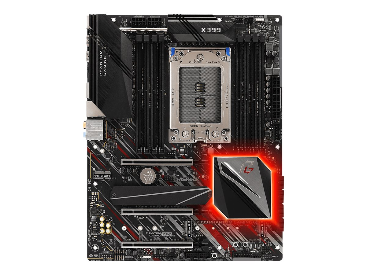 ASRock X399 Phantom Gaming 6 - Motherboard - ATX - Socket TR4 - AMD X399 - USB 3.1 Gen 1, USB-C Gen2, USB 3.1 Gen 2
