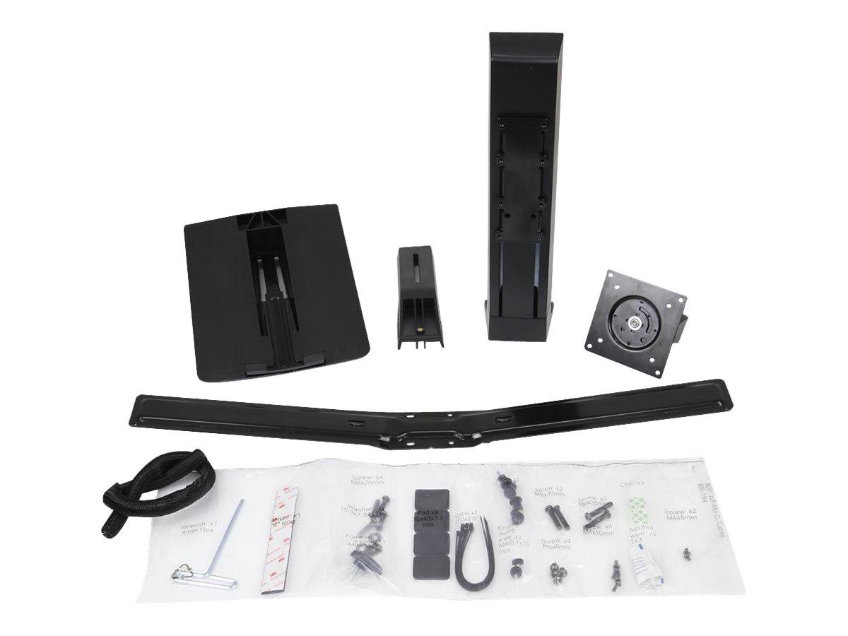 Ergotron WorkFit LCD & Laptop Kit - Tischhalterung für LCD-Display - Schwarz - Bildschirmgrösse: bis zu 61 cm (bis zu 24 Zoll)
