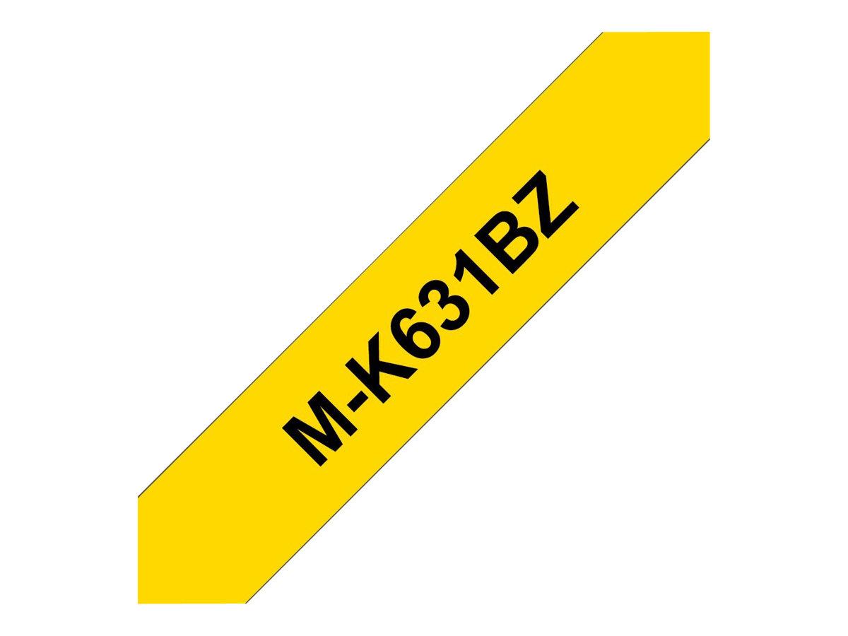 Brother MK631BZ - Schwarz auf Gelb - Rolle (0,9 cm x 8 m) 1 Rolle(n) nicht-laminiertes Schriftband - für P-Touch PT-55, PT-65, P