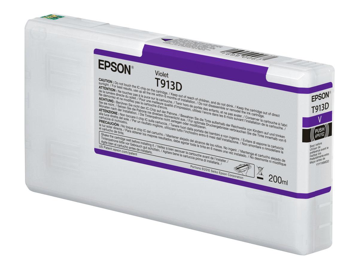 Epson T913D - 200 ml - violett - Original - Tintenpatrone - für SureColor SC-P5000 Violet, SC-P5000 Violet Spectro