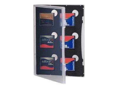 Gepe Card Safe Store - Memory-Etui - Kapazität: 6 CompactFlash-Karten - durchsichtig
