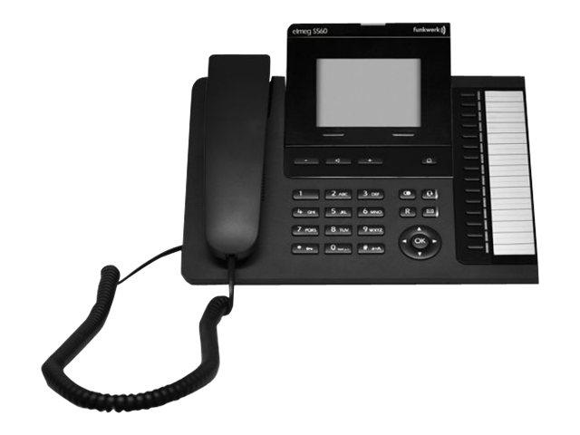 elmeg S560 - Digitaltelefon - Schwarz