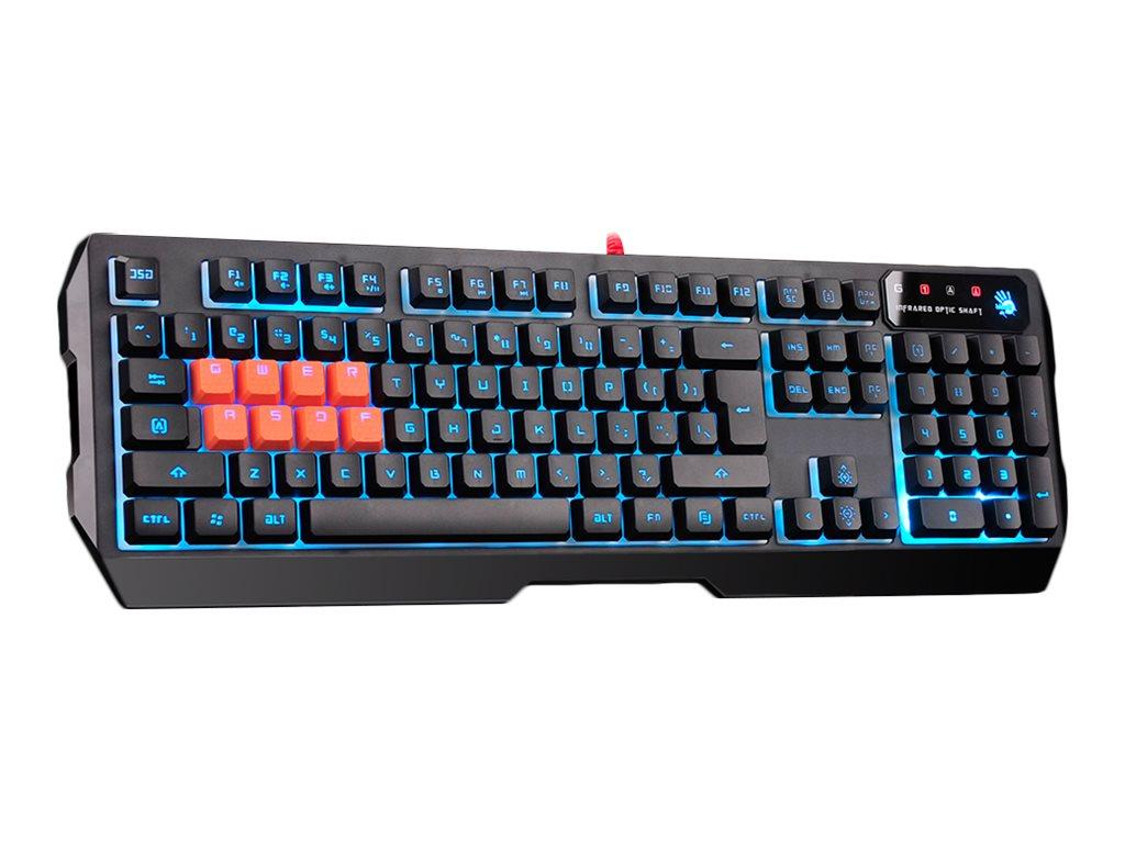 Bloody B188 - Tastatur - hinterleuchtet - USB - Europa - Schwarz