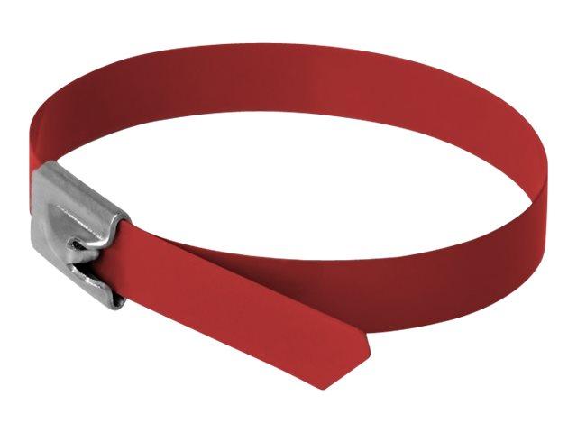 Delock - Kabelbinder - 20 cm - Rot (Packung mit 10)