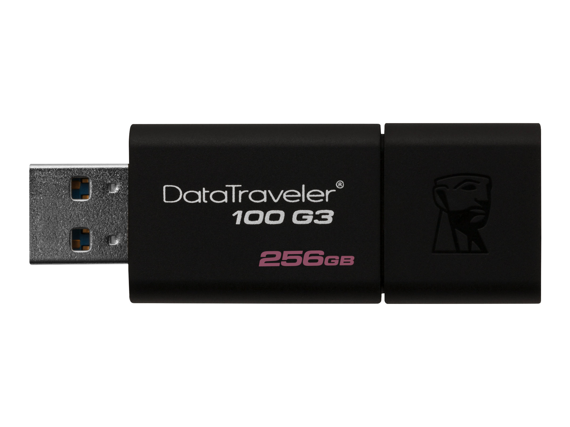 Kingston DataTraveler 100 G3 - USB-Flash-Laufwerk - 256 GB - USB 3.0 - Schwarz