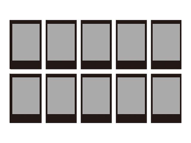 Fujifilm Instax Mini Black - Instant-Farbfilm - ISO 800 - 10 Belichtungen