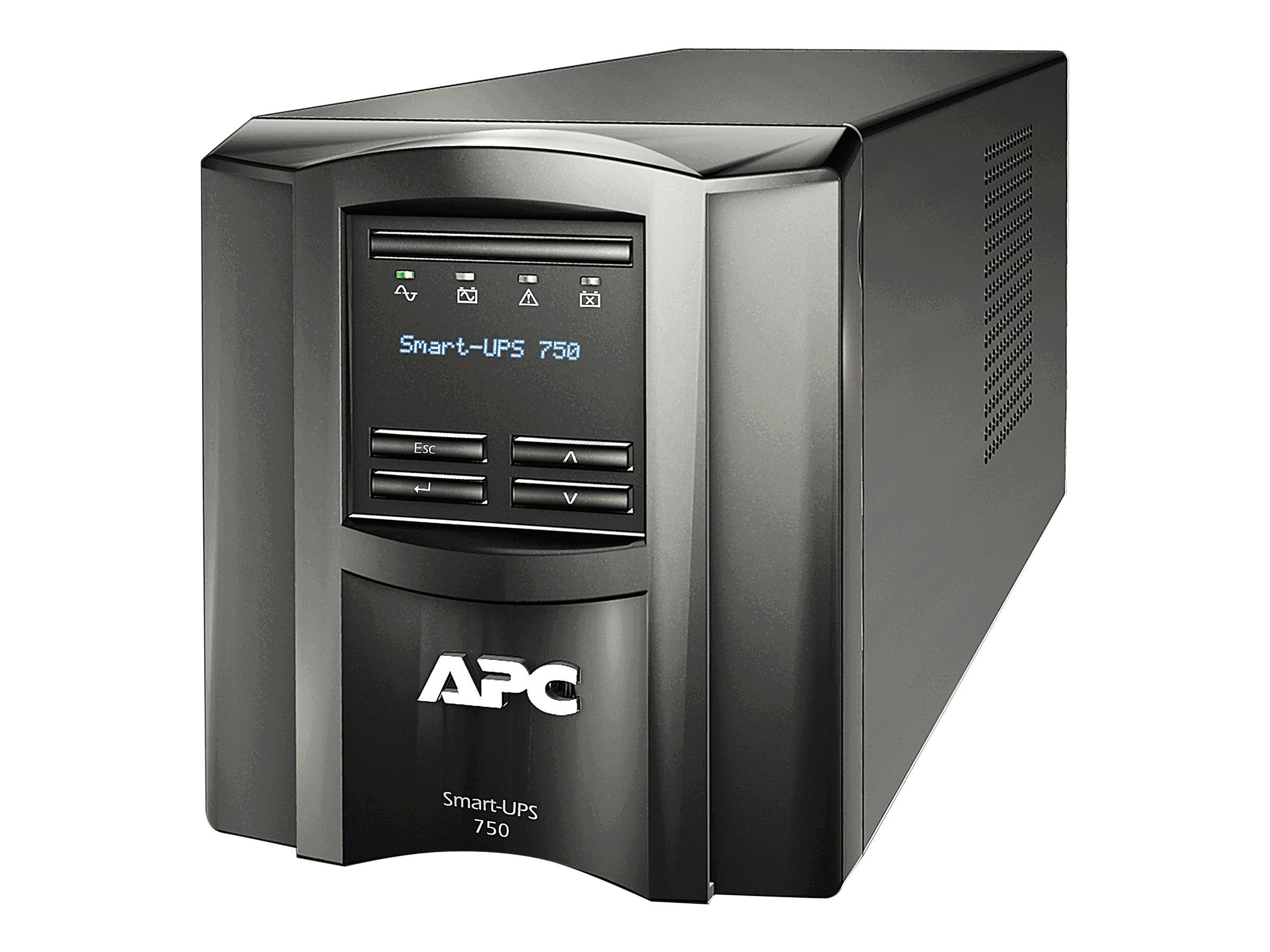 APC Smart-UPS 750 LCD - USV - Wechselstrom 120 V - 500 Watt - 750 VA - RS-232, USB