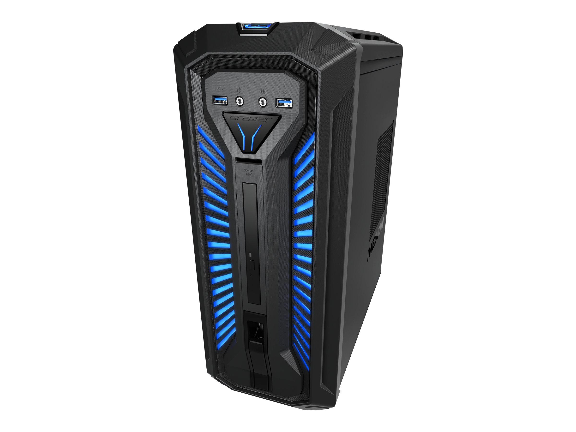 Medion ERAZER X67053 - Tower - 1 x Core i5 8400 / 2.8 GHz - RAM 16 GB - SSD 256 GB, HDD 1 TB - DVD-Writer