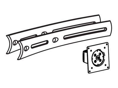 Ergotron DS100 Triple Display Upgrade Kit - Montagekomponente (Pivot, Verlängerte Halterung) für Dreifach-Flachbildschirm - Schw