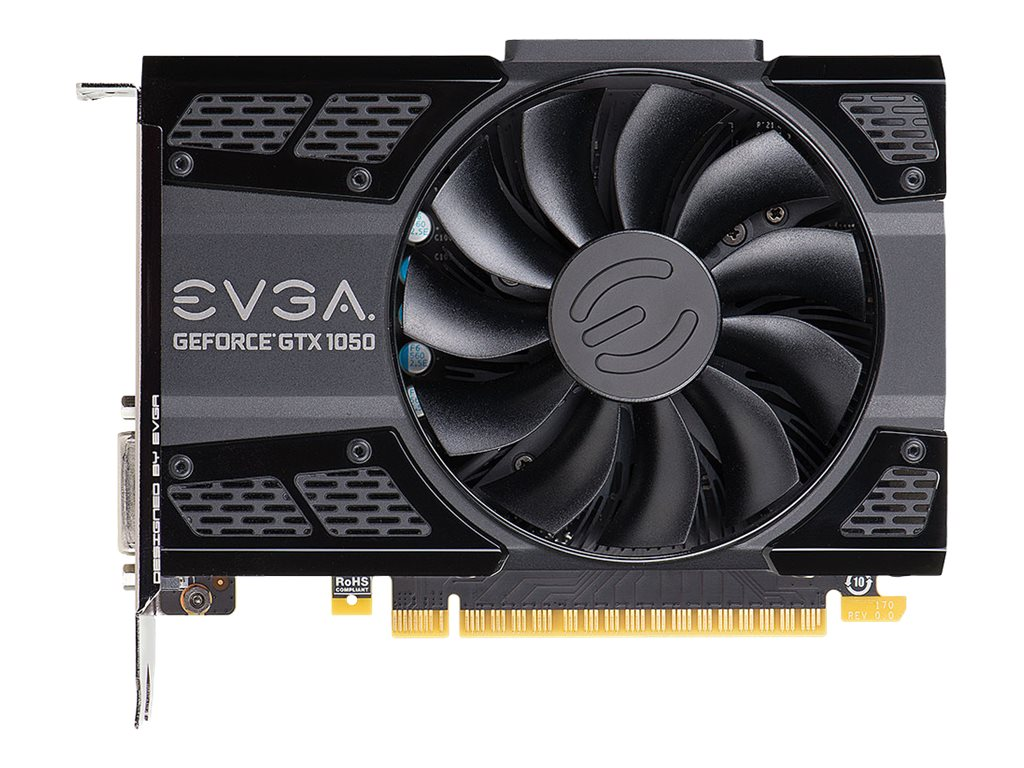 EVGA GeForce GTX 1050 SC Gaming - Grafikkarten - NVIDIA GeForce GTX 1050 - 2 GB GDDR5 - PCIe 3.0 x16 - DVI, HDMI, DisplayPort
