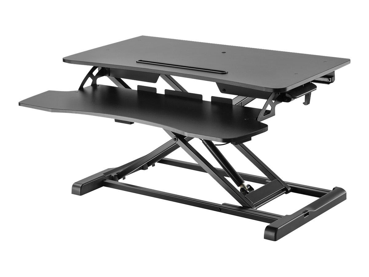 V7 Sit-Stand Essential Desktop Workstation DT2SSB-1E - Stehender Tischwandler - rechteckig - Schwarz